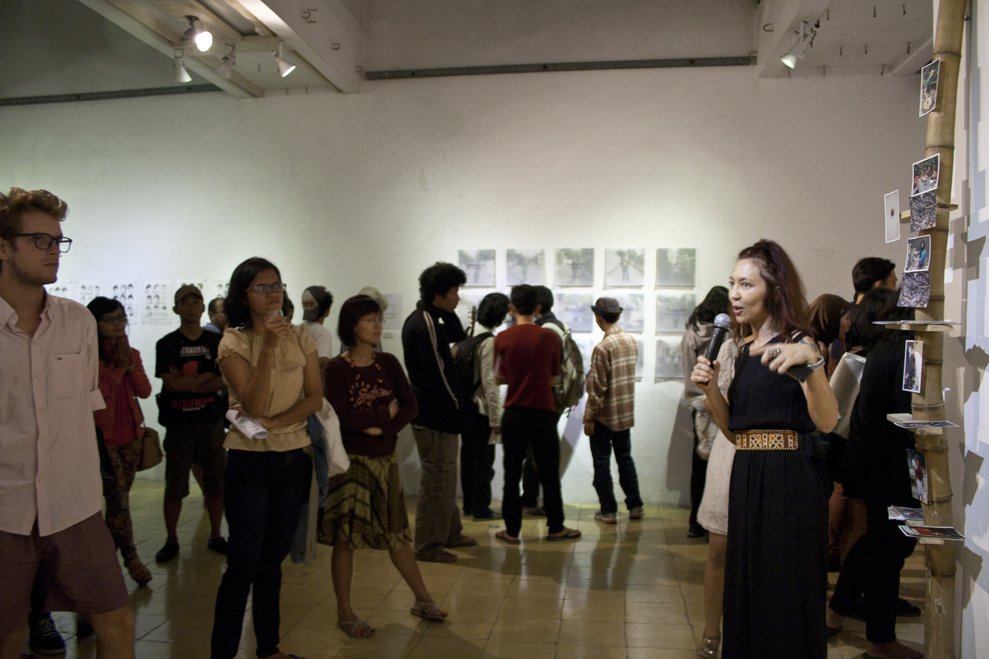 At the exhibition opening at Cemeti Art House