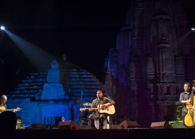 Gurrumul Yunupingu and band perform at  the Rajarani Temple, Bhubaneswar